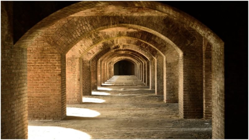The halls of Fort Jefferson.