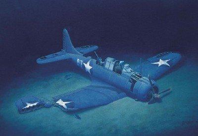 The Douglas SBD-2 BuNo 2106 at the bottom of Lake Michigan