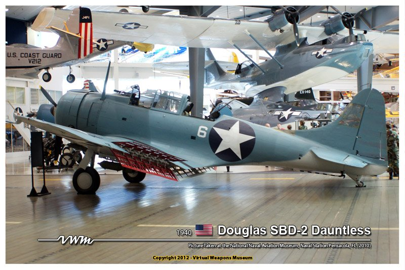 The Douglas SBD-2 replica in the Naval Air Station Museum in Pensacola