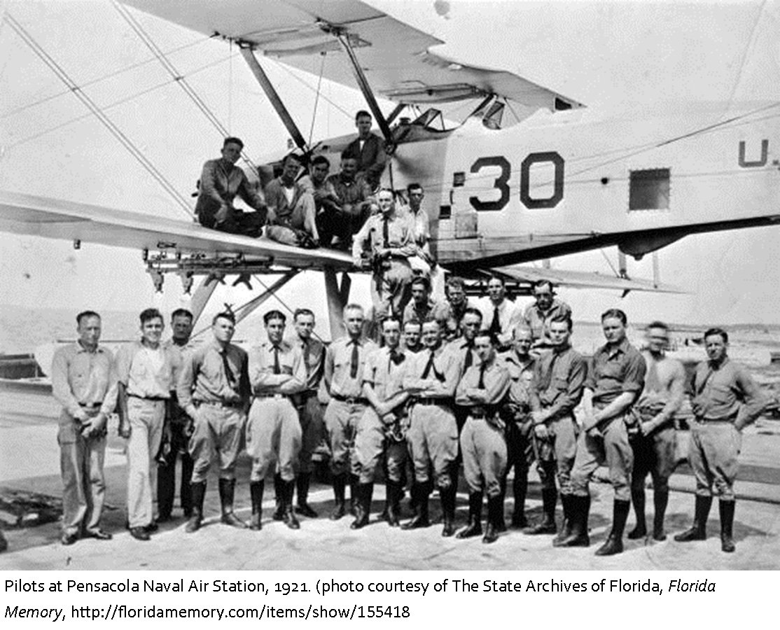 Pilots on one of the aircrafts on the NAS Pensacola