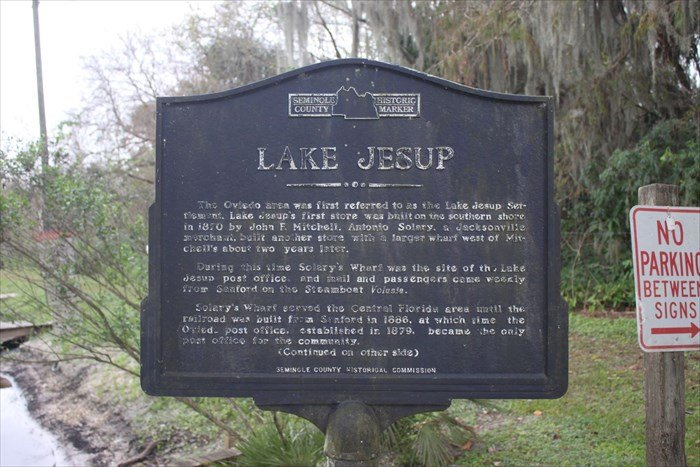 Lake Jesup Historic Site Marker