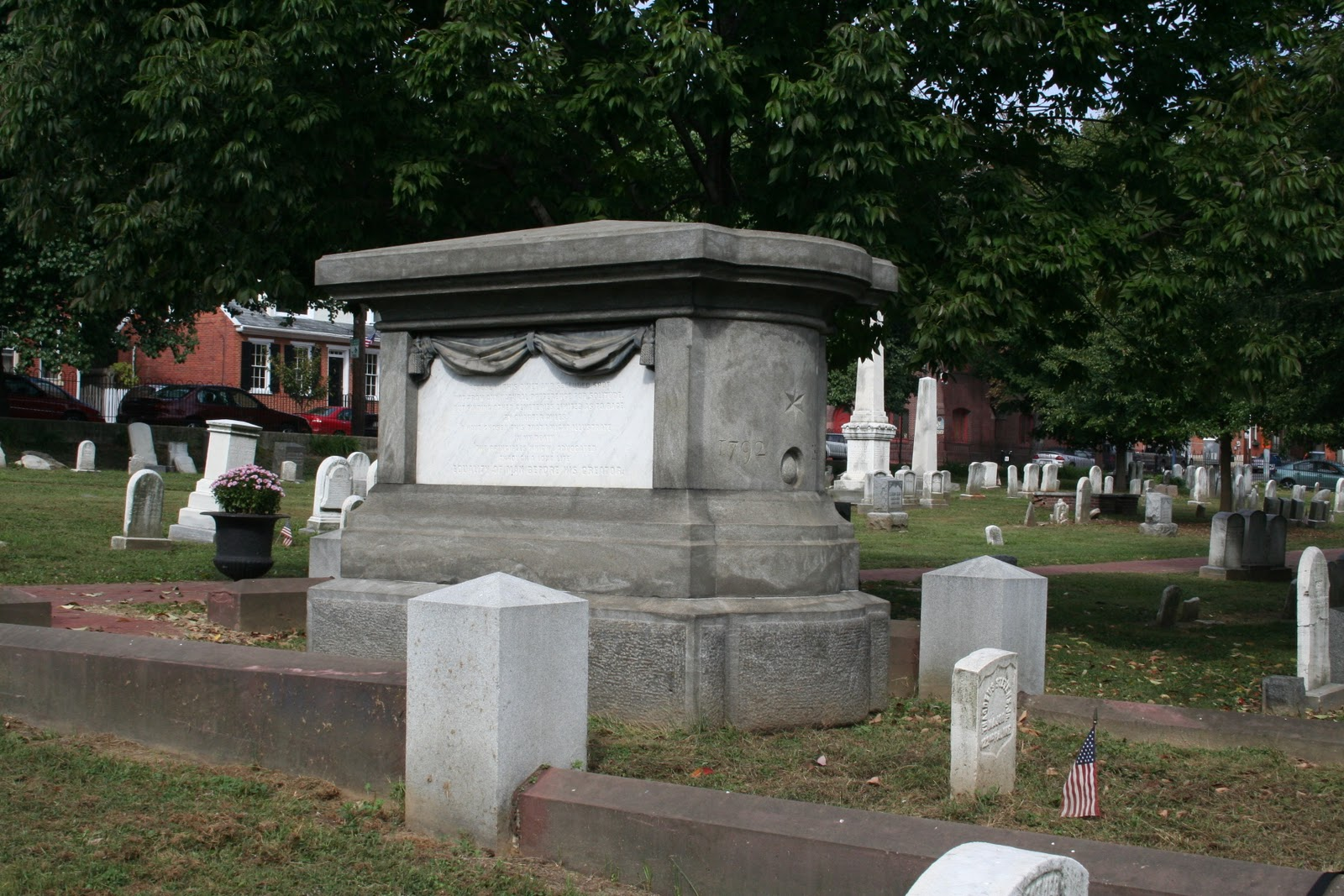 Thaddeus Stevens is buried in the Shreiner-Concord Cemetery in Lancaster, Pennsylvania. Stevens chose Lancaster as his final resting place because Pennsylvania was inclusive to all races.
