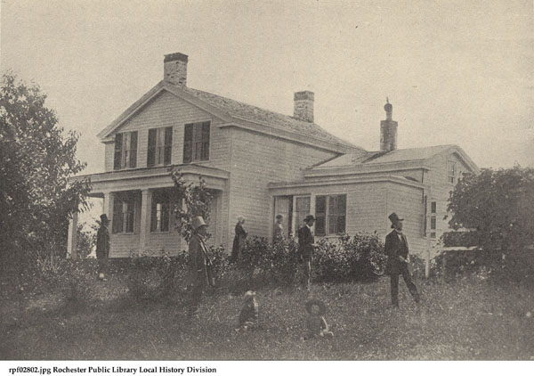 The exterior of the Anthony Farmhouse in 1854 is shown here.