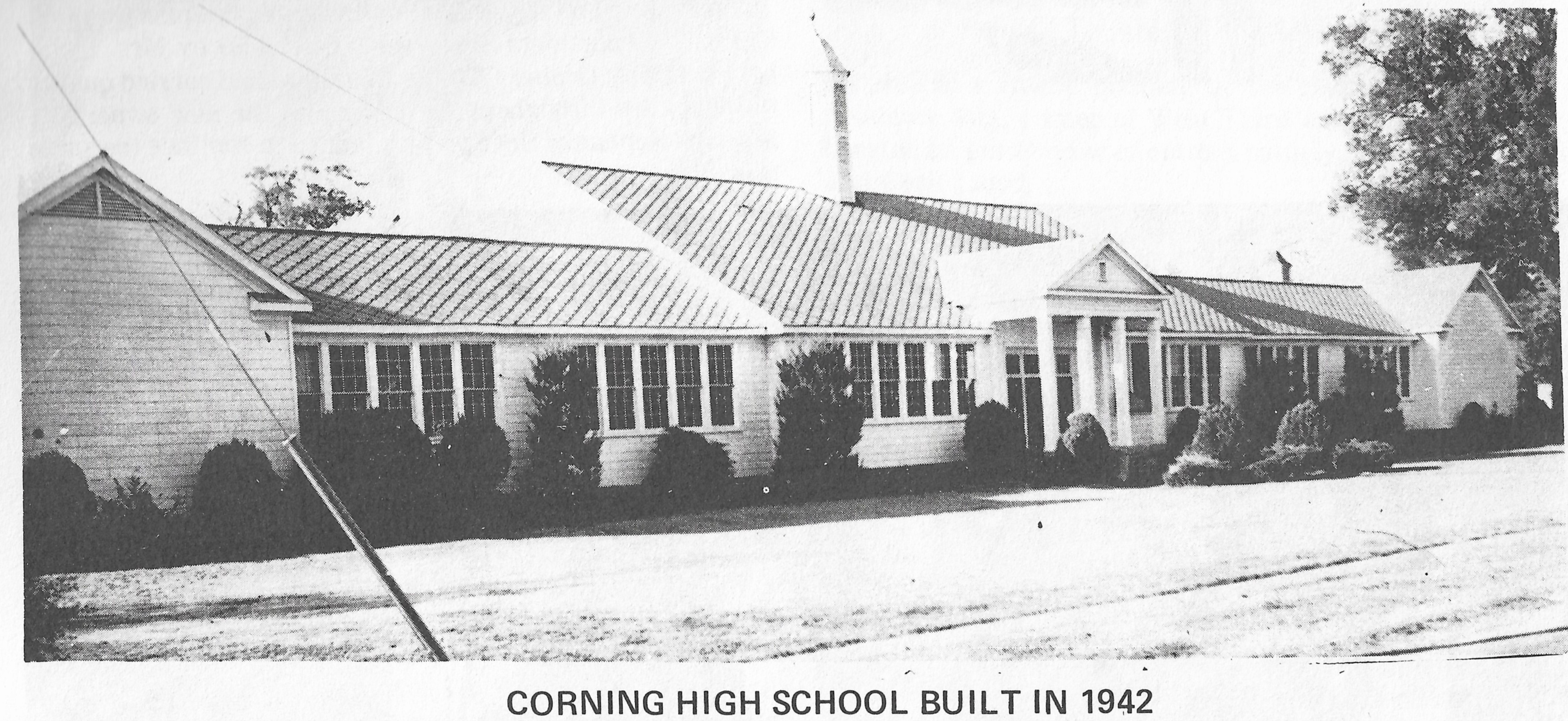 A picture of the School from the Corning Centennial Book