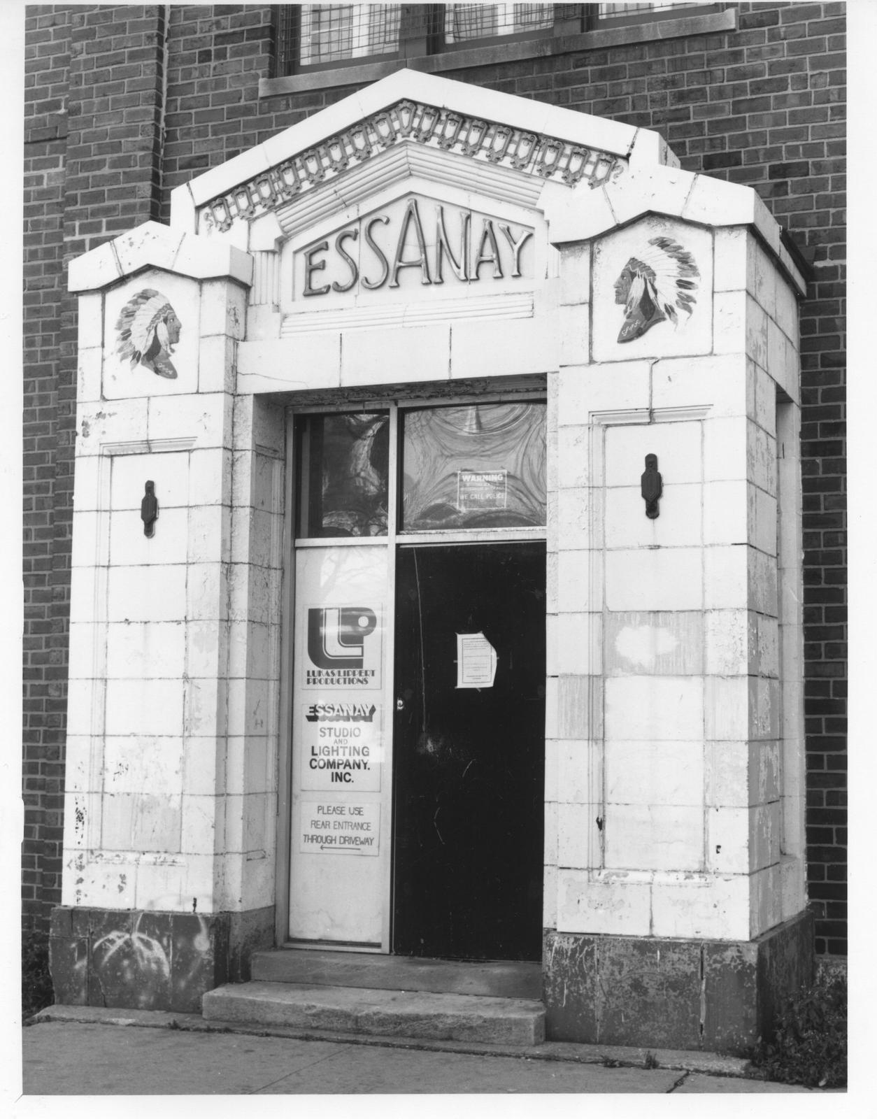 Photo of the Essanay Studios entrance by Robert W. Kruger.