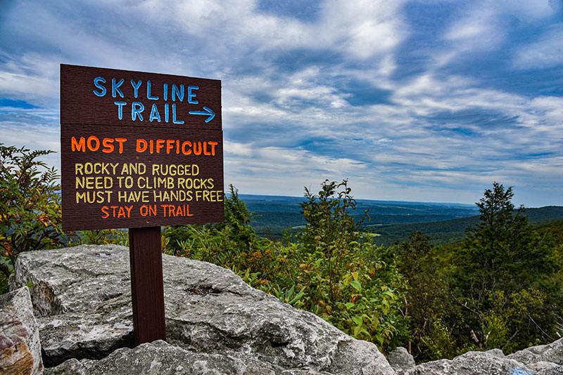 The Skyline Trail is one of the mountain's more rugged trails for advanced or experienced hikers