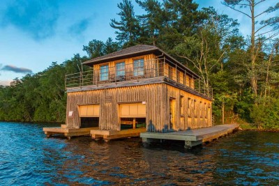 The Boathouse is one of the several buildings at Forest Lodge