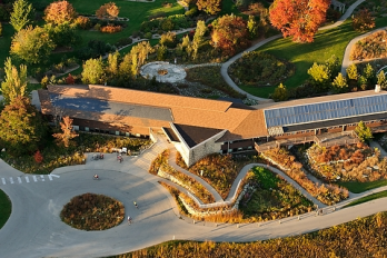 The visitor center is the first stop when visiting the Arboretum.
