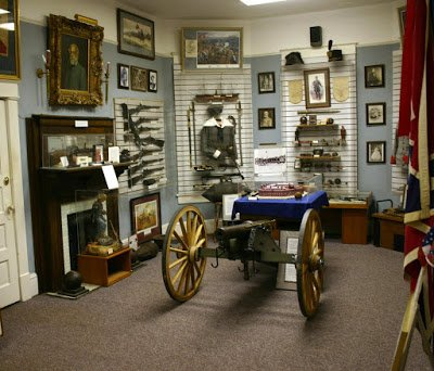 In the main gallery, you will find on display an Ellsworth gun on a carriage.
