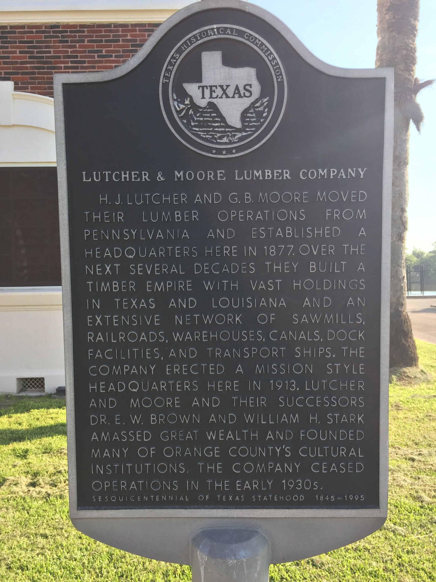 Historical marker at the building. 2016
