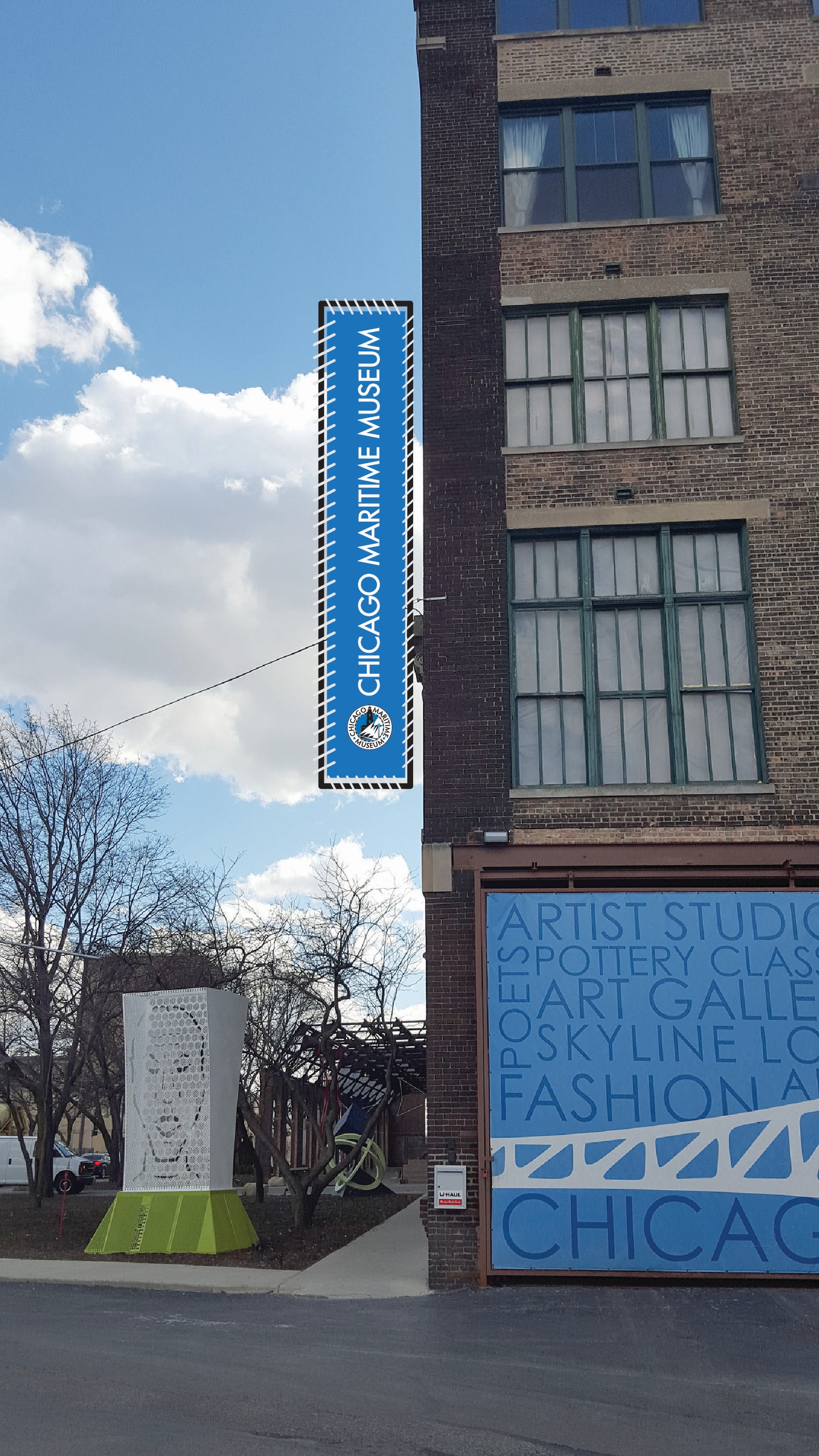 The Chicago Maritime Museum opened in 2016 in the first floor of the Bridgeport Art Center next to Bubbly Creek. Image courtesy of the Chicago Maritime Museum.
