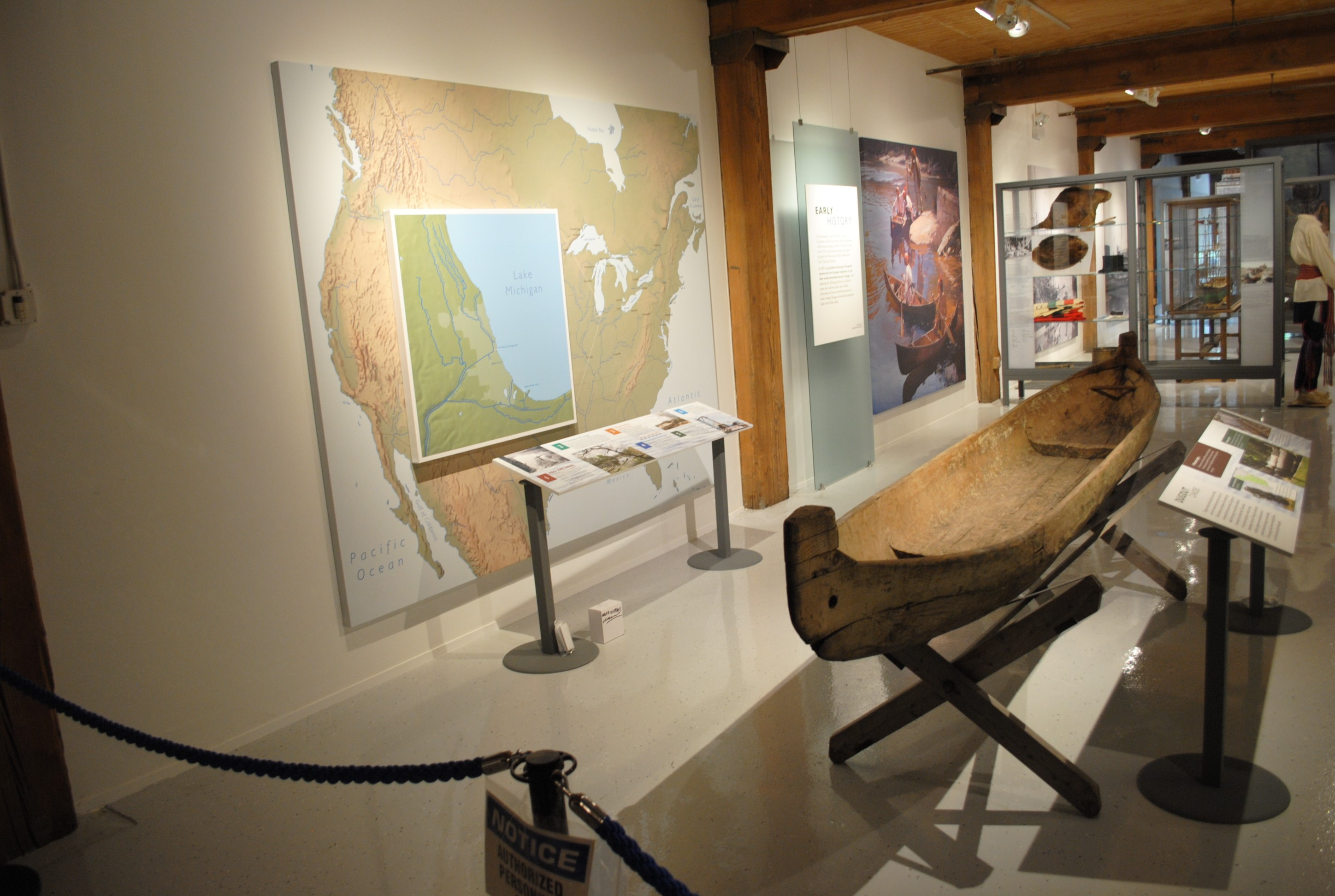 The museum traces the history of Chicago's waterways, from its use by Native Americans and fur traders to today's recreational boaters. Image courtesy of the Chicago Maritime Museum.