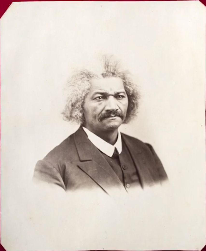 A library page discovered this photograph of Rochester's most influential resident, Frederick Douglass, in a library scrapbook in 2016.