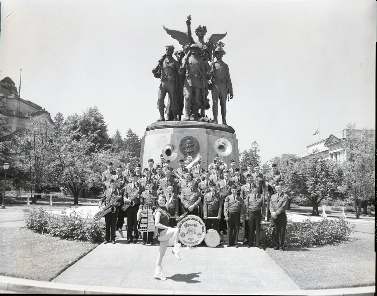 Band at Winged Victory Monument
