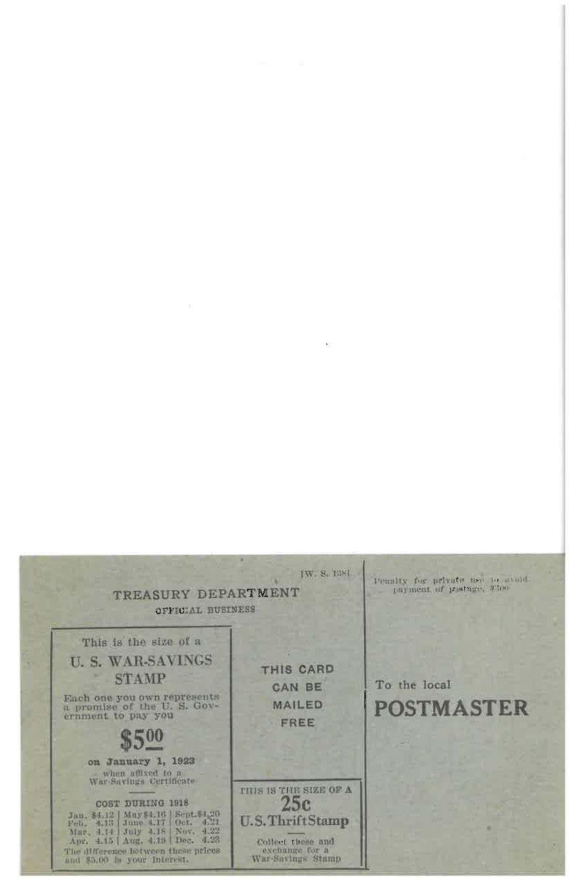 Original scanned WWI era War Stamp