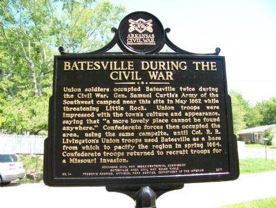 Batesville Civil War Marker