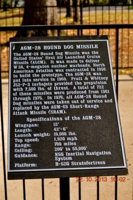 Marker at the site of the AGM-28 Hound Dog Missile