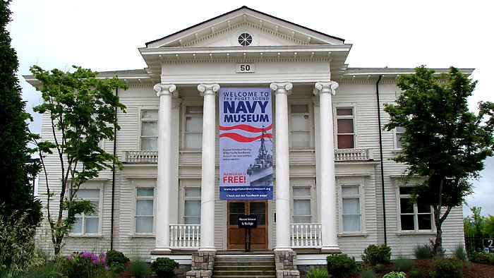The Puget Sound Navy Museum is housed in historic Building 50, which was built by the U.S. Navy in 1896 to serve as the first Administrative Headquarters for Shipyard Commandants. Credit: The Sextant