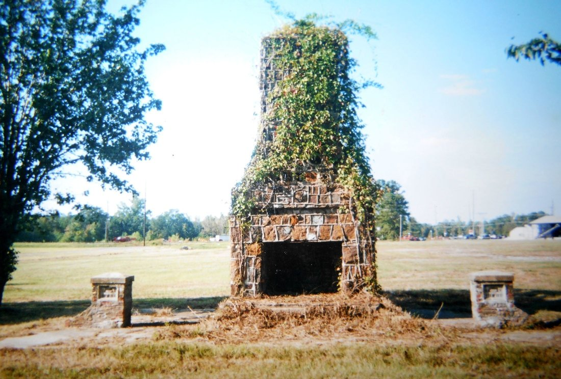 There was once over 400 buildings at Camp Aliceville. This chimney is all that is left standing now.