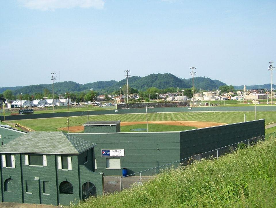 Side view of Branch Rickey Field.