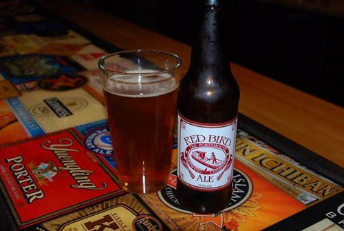 Red Bird Ale, named after the Portsmouth Redbirds