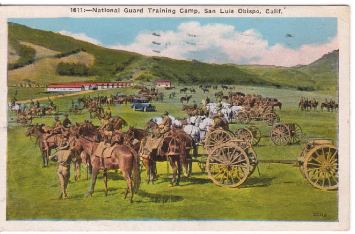 This is a picture of on of the early National Guard Training Camps.  Camps like this is what this land has continued to be used for.