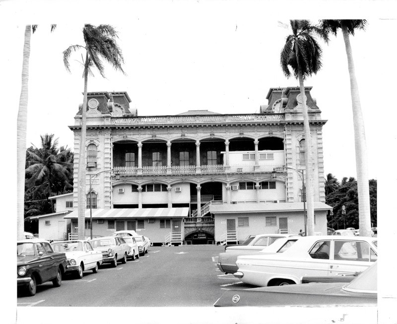 In the 1960s, Iolani Palace had make-shift buildings built to help make the neglected palace usable.