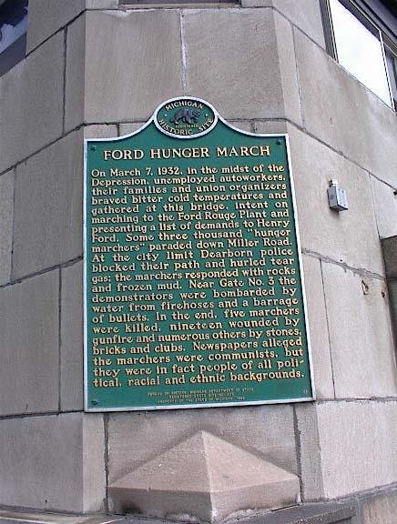 The marker was originally located on the Fort Street drawbridge
