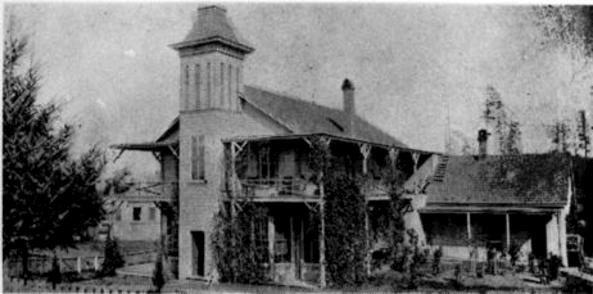 Photograph of the Fannie C. Paddock Hospital, 1882.