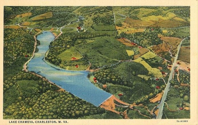 1944 Lake Chaweva Postcard. Provided by Cindy Morse Fioravante.