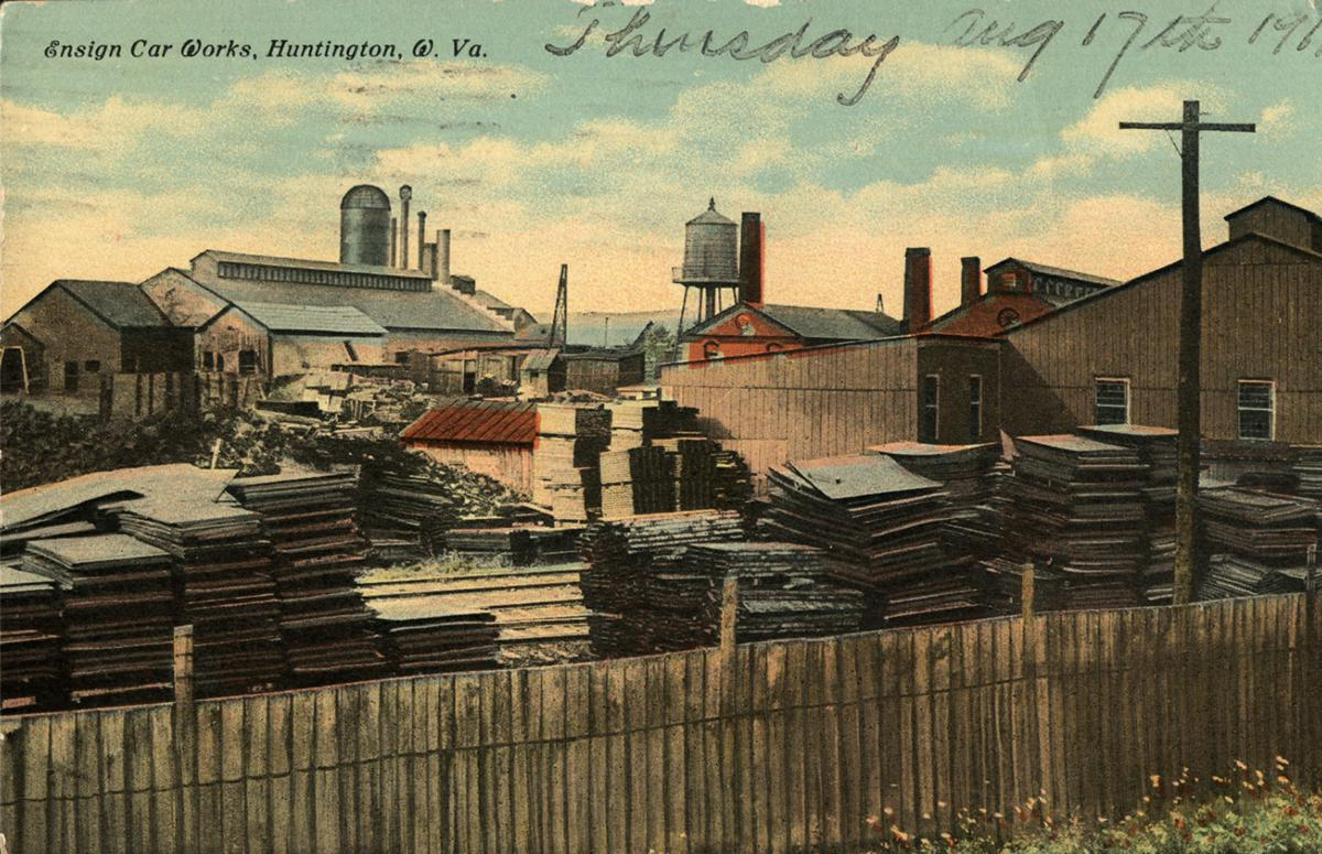 Postcard of the factory