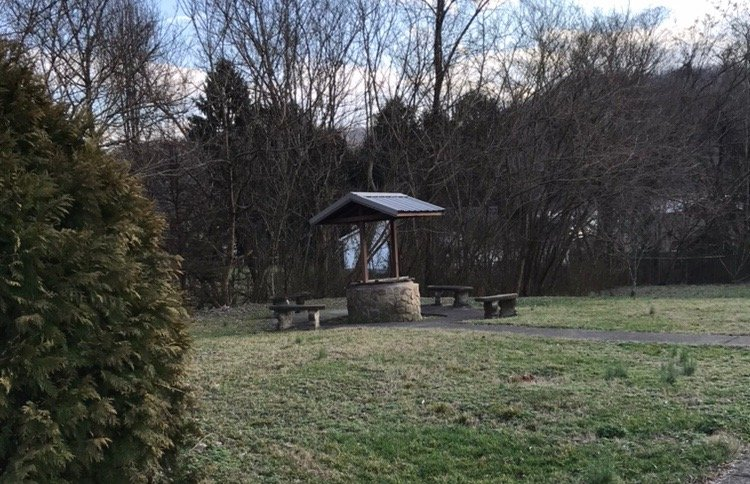 The original well site on the grounds of the house. It was reconstructed when the house was restored in 1980- 1985.