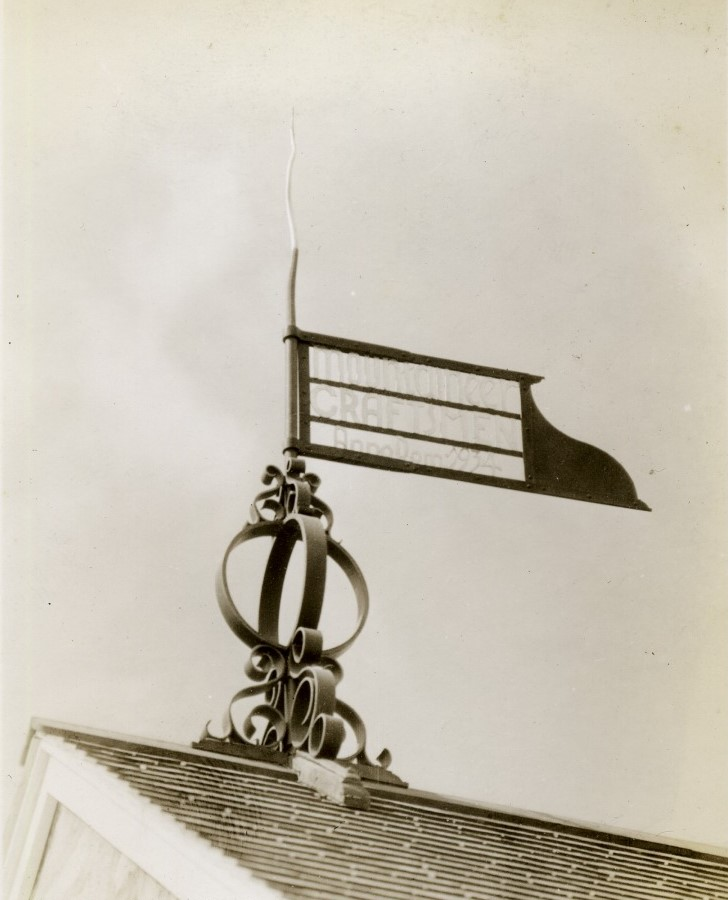Forge weather vane made by blacksmiths in the shop - item is still on display in the Forge