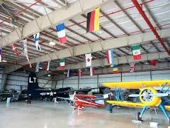 The museum hangar houses military and vintage planes