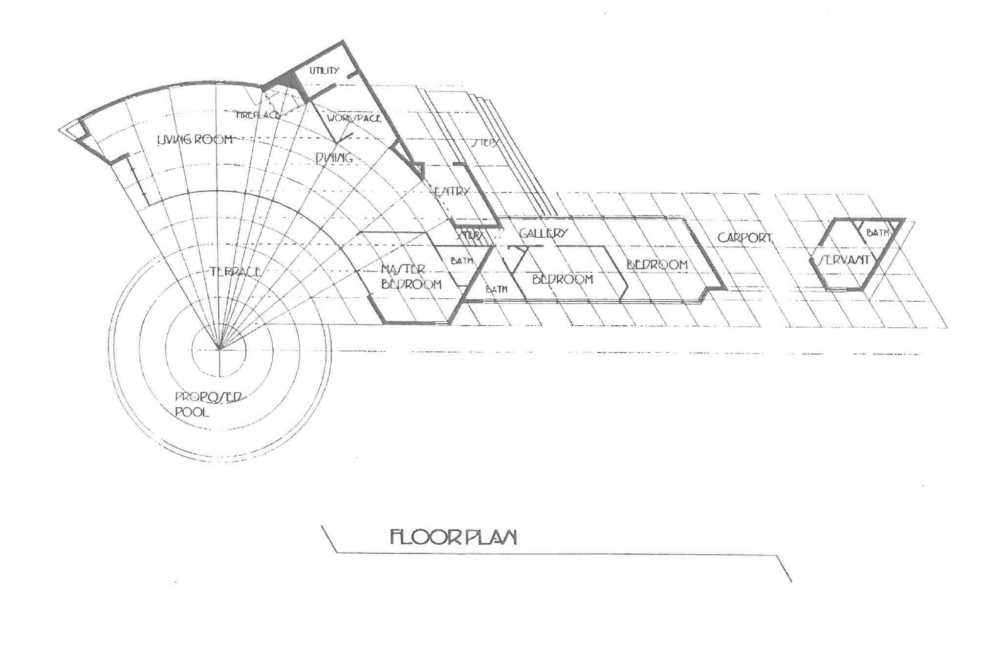 Cooke House Floorplan from 1999 booklet