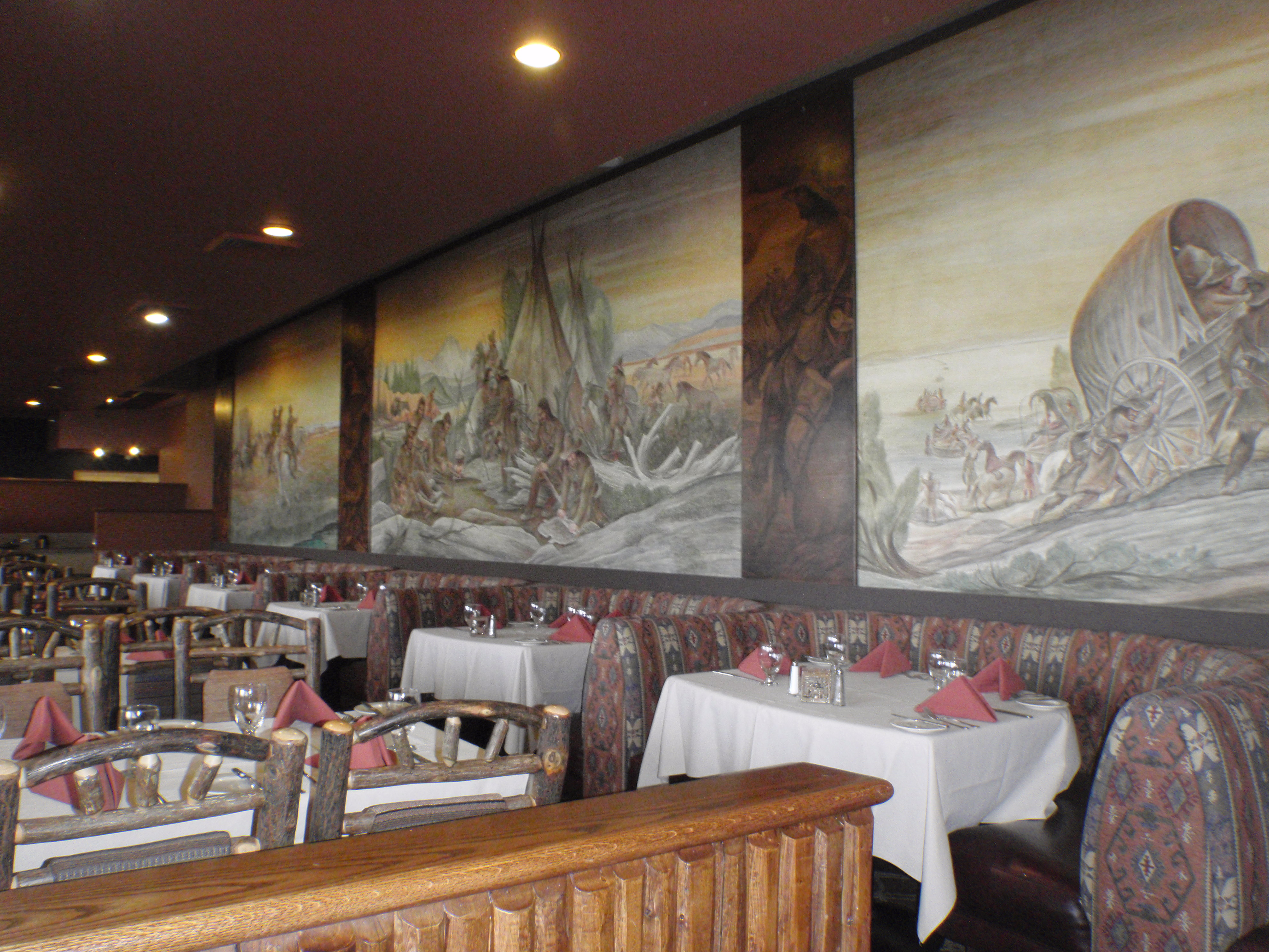 A few of Roters murals within the lodge's Mural Room.
