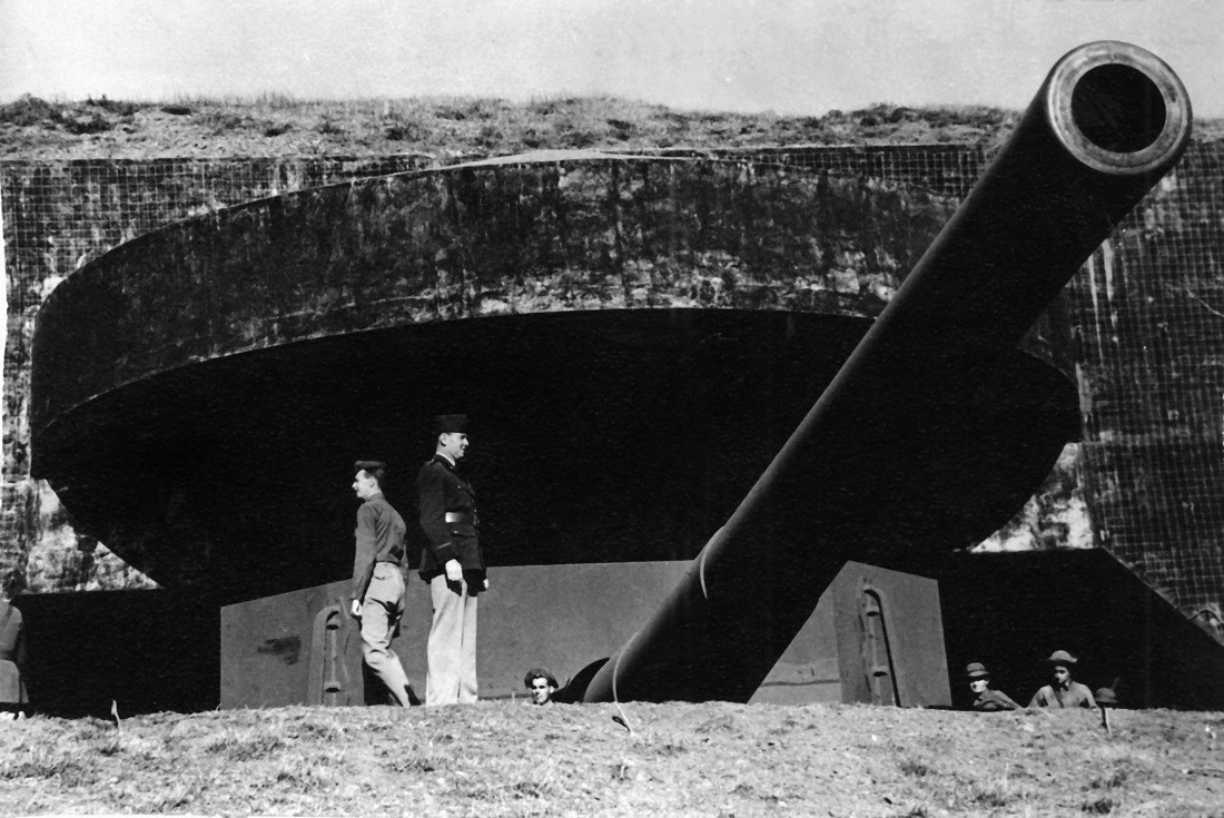 Battery Townsley with its 16 inch gun over looking the San Francisco Bay