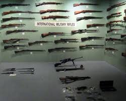 One of the many weapons rooms