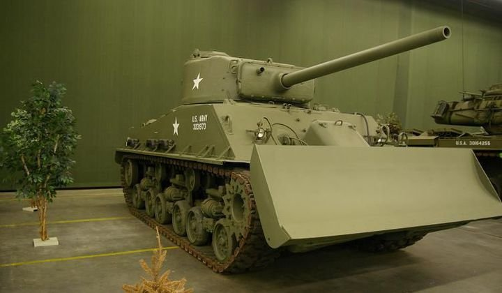 M4 Sherman with plow