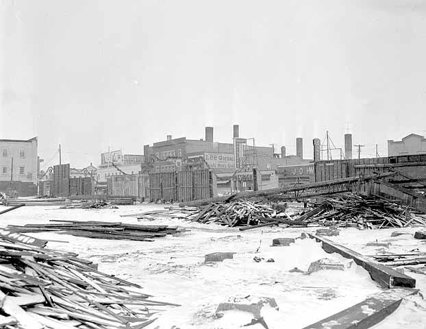 Demolition of Nicollet Park, 1955