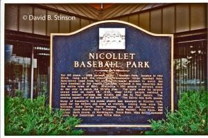 Historical Marker for Nicollet Park, 1983