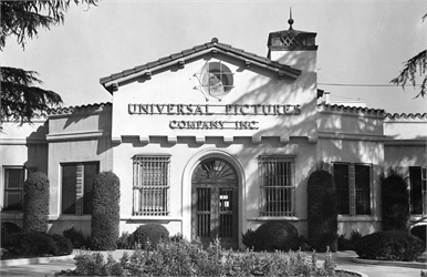 A main building of Universal Pictures from ca. the 1920s or 1930s.