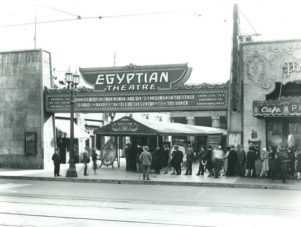 The Egyptian Theatre in the 1920s.