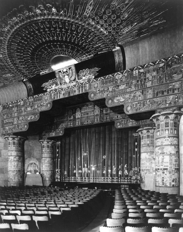 Inside the theater in 1922.
