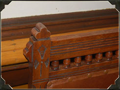 Another example of the finite woodworking details that can be found at the Millikin Homestead.