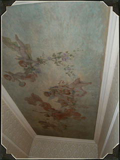 As you tour, do not forget to look up and enjoy the painted ceilings. This is another nod to the Renaissance influences.