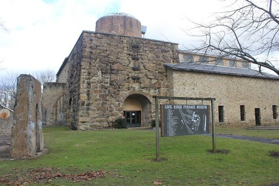 The Furnace Museum actually incorporates some of the ruins from the Thomas Iron Works into its building.