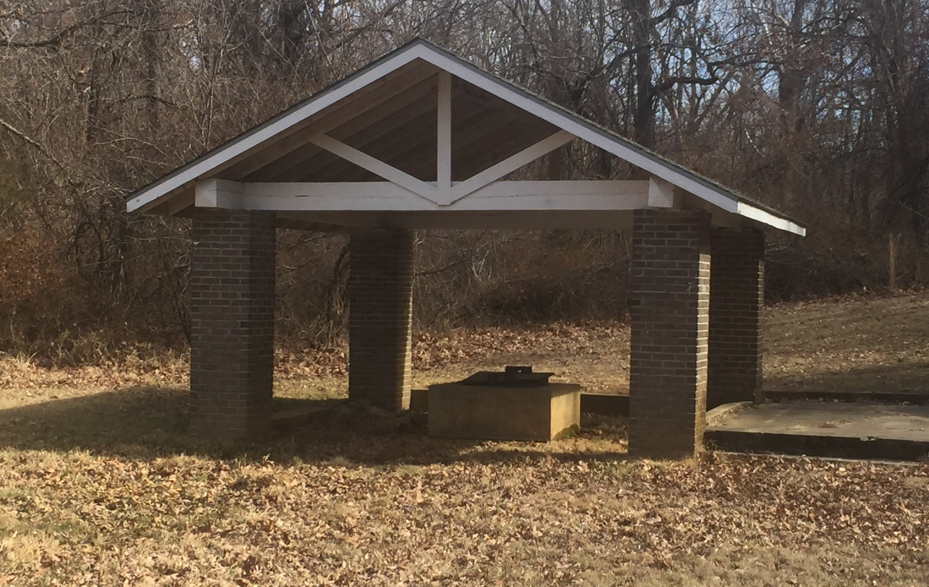 The mineral spring structure at Pertle Springs today. Photo by Mary Frintz