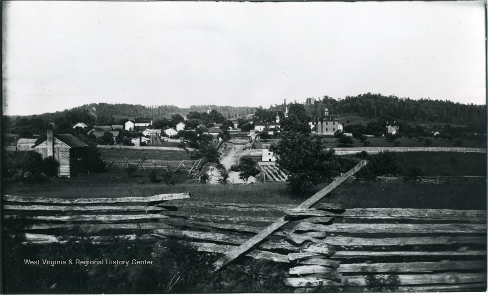Harrisville in 1884, two decades after the Jones-Imboden Raid's occupation of town.