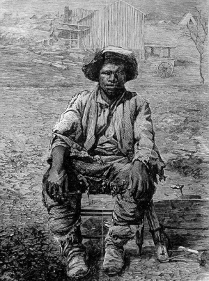 The only known likeness of Gabriel Prosser, depicted at rest in his duties as a slave blacksmith at Brookfield Plantation.